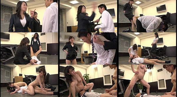 【エロ動画】女社長にビンタや金的蹴りされたり小便飲まされながらチンチンをシコシコされるM男