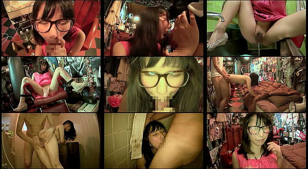【エロ動画】19歳の色白メガネデリヘル嬢にイラマチオ口内射精や放尿プレイさせて中出しまで!藤原花凛