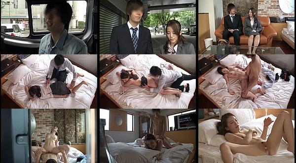 【エロ動画】恋人のいない女上司×男部下 ラブホテルで2人きりな状況をモニタリング!→まさかの中出しセックス