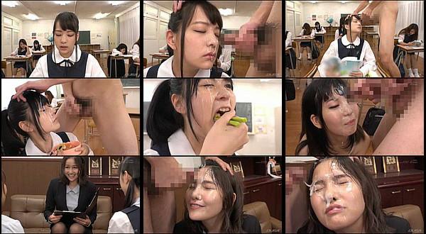 【エロ動画】学園生活で常に精子を顔にぶっかけられてるのに平然としている女子生徒や女教師たち