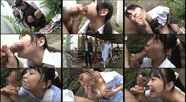 【エロ動画】野外でいきなりフェラしてきた女子校生にたまらず顔射するもしゃぶるのを止めて貰えず連続顔射!