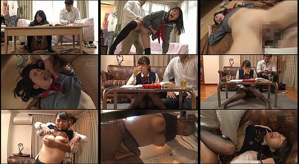 【凌辱動画】利尿剤を飲まされた女子校生がオシッコ我慢中に無理やり巨根をねじ込まれ激ピストンされる!