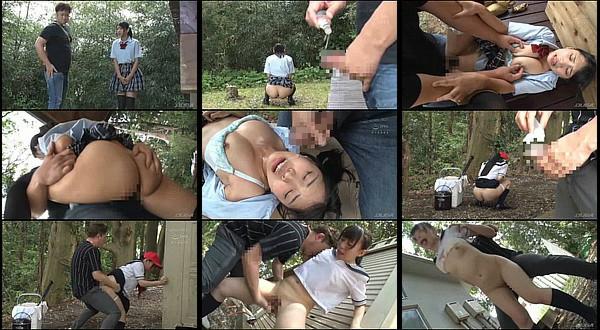 【凌辱動画】ケツ丸出しで野ションしてる女学生に媚薬を塗ったチ●ポを挿入!無理やり犯された後もオナニーしてる女学生がヤバいwww