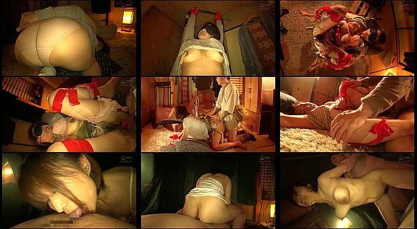 【エロ動画】Jカップ爆乳で卑猥な黒乳首!結婚17年の主婦こずえさん52歳を目隠し拘束して中出しセックス調教!