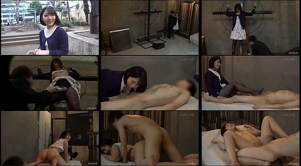 【エロ動画】女上司とSMラブホテルで2人っきりの男部下が女上司を磔台に拘束して電マ攻め&中出しセックス!